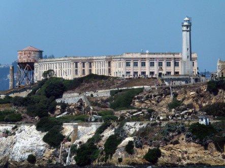 Alcatraz today from the water. https://pixabay.com/photos/alcatraz-prison-building-island-53168/