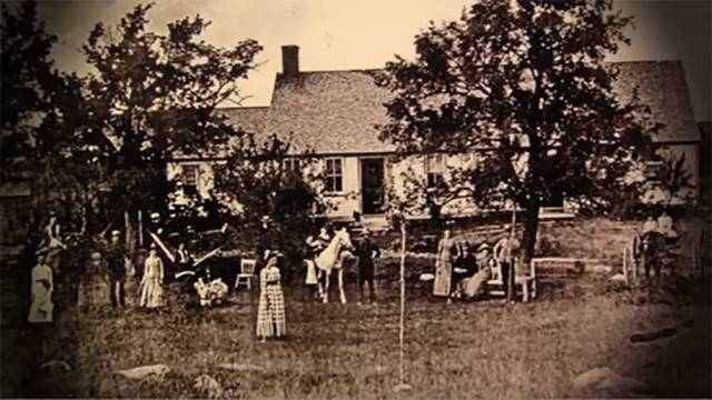 Allegedly, this is the oldest known photo of the Perron family house, taken many years before the family moved in.