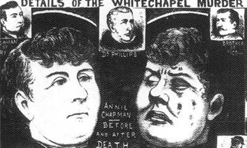 Annie Chapman Before And After Death. From The Illustrated Police News, 22nd September 1888.