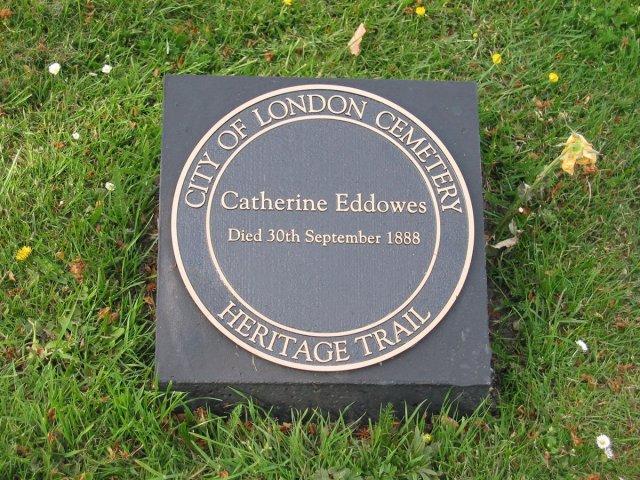 Catherine Eddowes grave post 2003