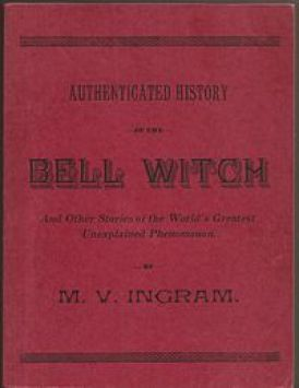 "Authenticated History of the Bell Witch, Rare Book Reprints, 1961. Also known as ""The Red Book."""