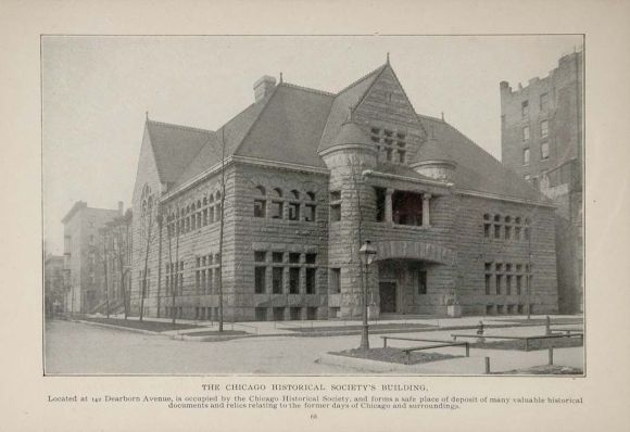 An old illustration of the Former Chicago Historical Society Building. https://www.pinterest.ph/pin/289004501072308455/