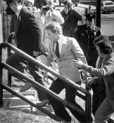 Arne Johnson outside the courthouse