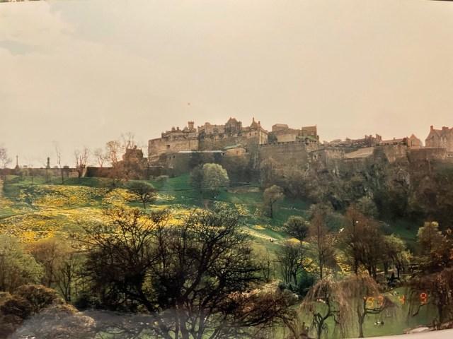 Looking up at Edinburgh Castle Photo Credit: Rebecca Rivers