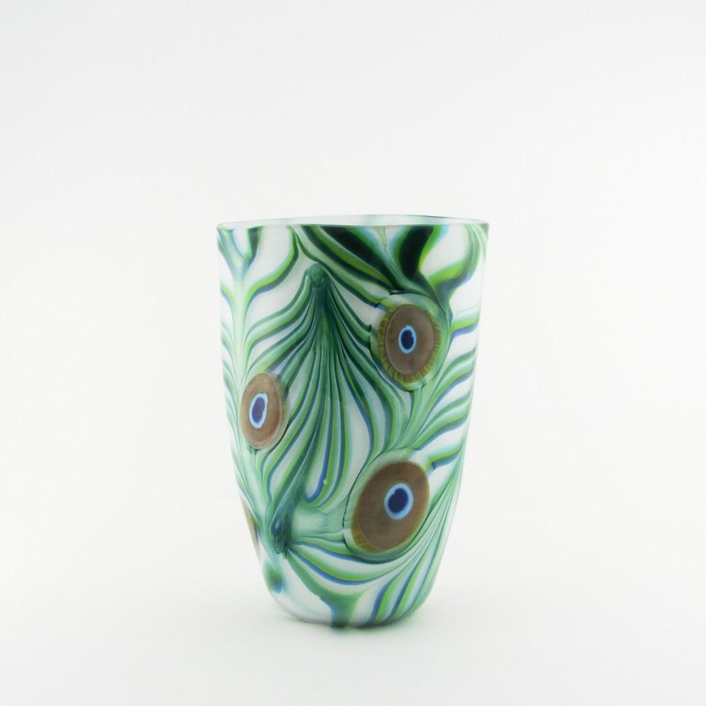 Peacock Vase