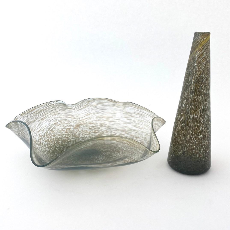 Gold Frit Bud Vase