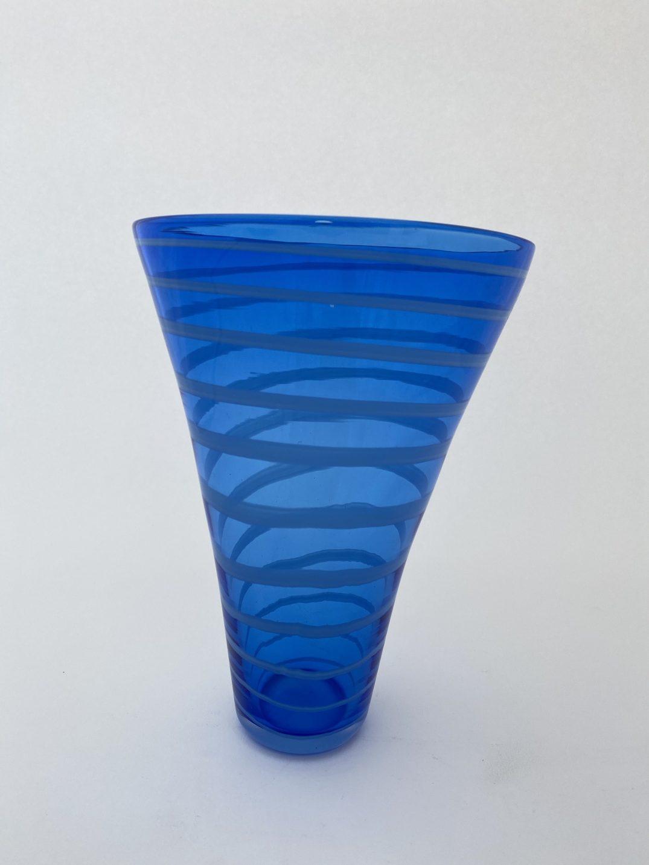 Blue Spiral Vase