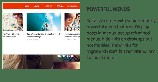 Socialize: Multi-Purpose BuddyPress Theme 11