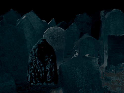 Ghosts in Cemetery