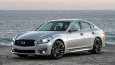 The 2016 Infiniti Q70 Premium Select Edition's exterior offers dark chrome trim, a darkened lower rear bumper, a rear decklid spoiler and unique design and color 20-inch aluminum-alloy wheels with 245/40R20 all-season performance tires. The interior of the Q70 Premium Select Edition is highlighted by unique Graphite or Stone semi-aniline leather seating, suede-like headliner, aluminum interior trim, illuminated kickplates and floor mats with contrasting piping.
