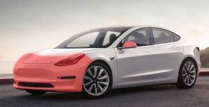 Tesla Model Clear Bra Standard Wrap Ghost Shield Film