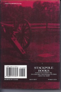 35 Days to Gettysburg Back Cover