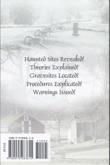 Gettysburg Ghost Hunters Field Guide back cover