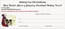 Ghosts of Gettysburg Tour Gift Certificate