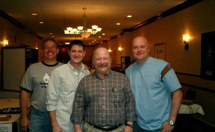 "Mark Nesbitt of Ghosts of Gettysburg with ""Ghost Hunters"" TV team including  Jason Hawes"