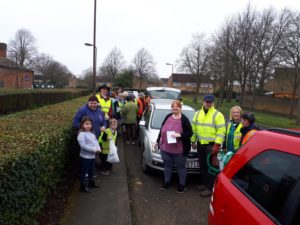 Litter Pickers Assemble for the GHRA litter pick on 8th of April