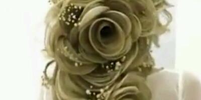 تسريحة عروس فخمة