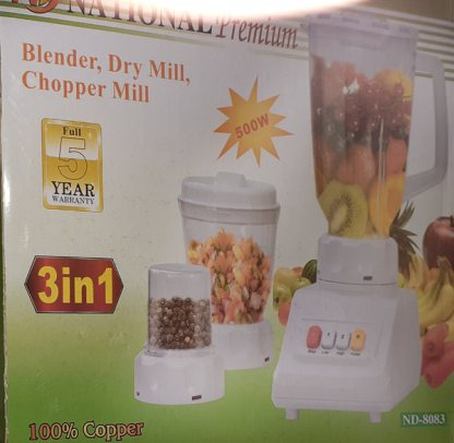 National Premium Blender, Dry Mill and Chopper Mill ND-8083