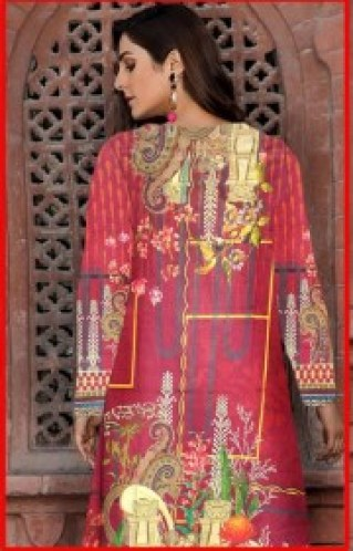 Beautiful Digital Lawn Kurti With Embroidered Neck