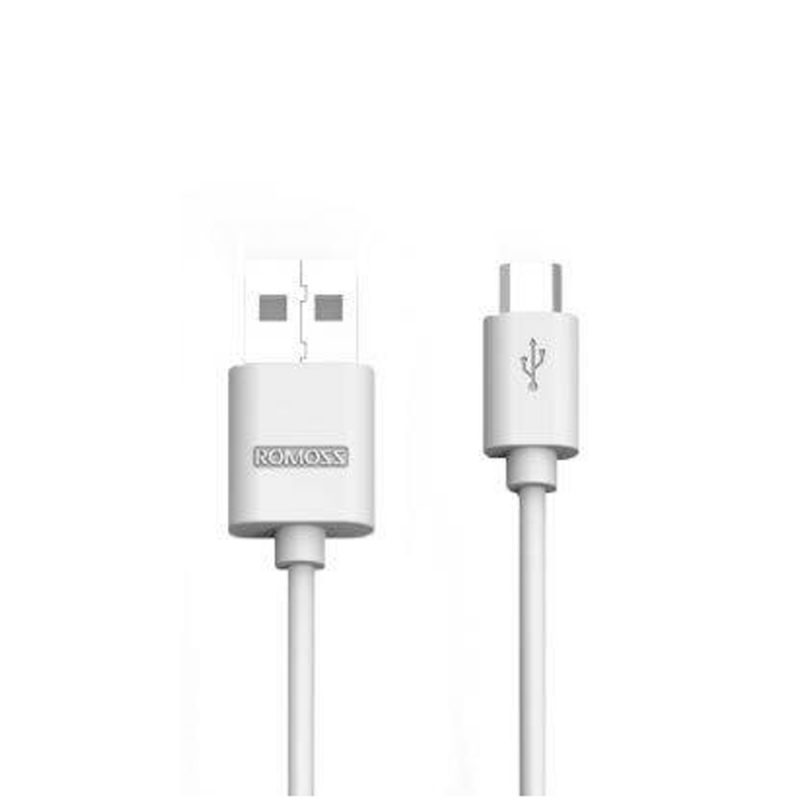 New Stylish Romoss Micro USB cable White