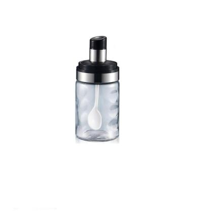Transparent sealed Glass seasoning jar with Air Tight Lid