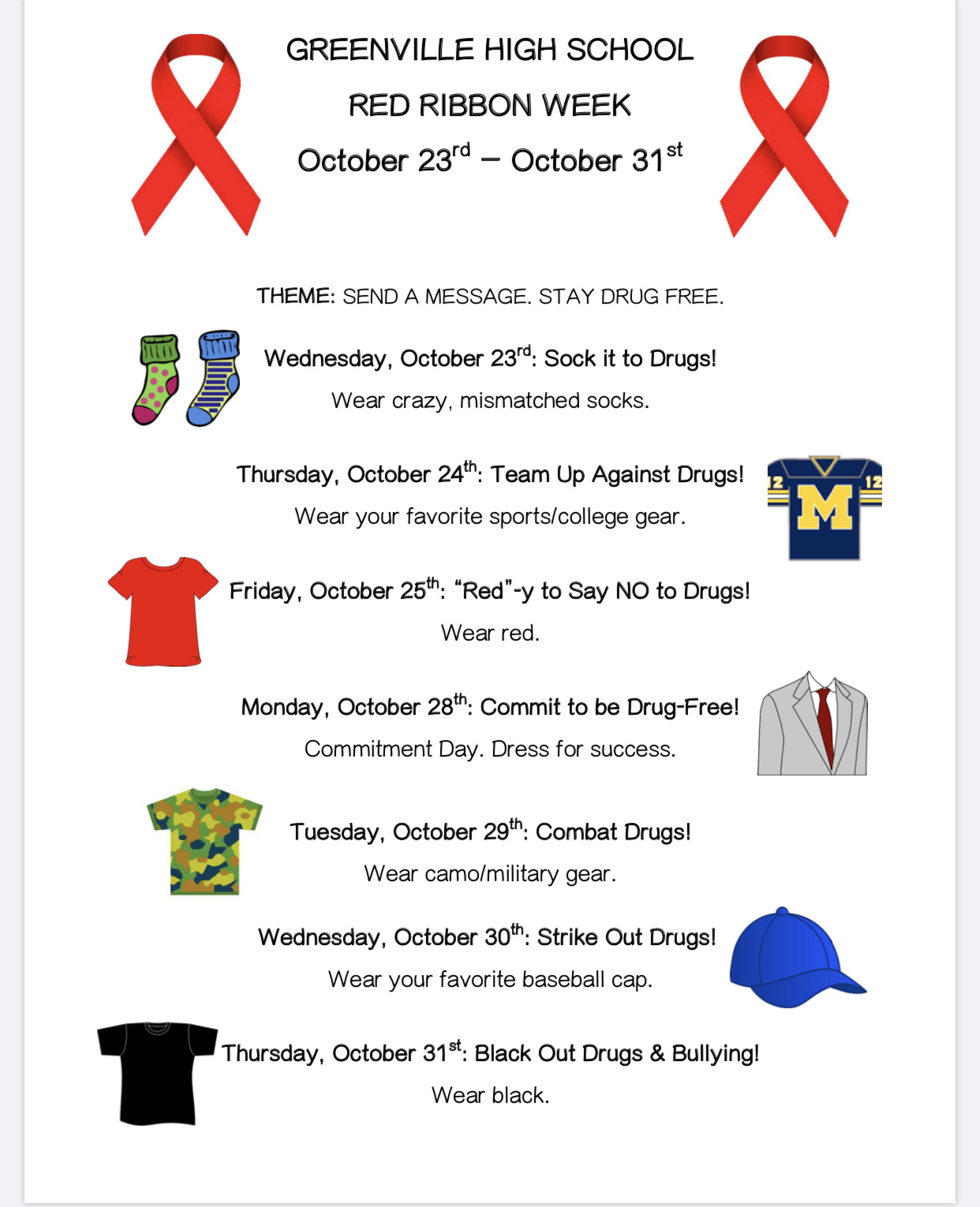 Red Ribbon Week Greenville High School