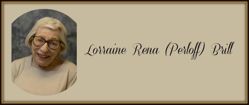 Alumnae Association appreciates Lorraine Rena Perloff Brill