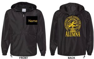 GHS Alumnae Windbreaker - personalized black