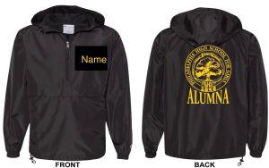 GHS Alumnae Windbreaker - personalized black