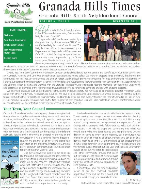 December 2013 GHSNC Newsletter Available for Download