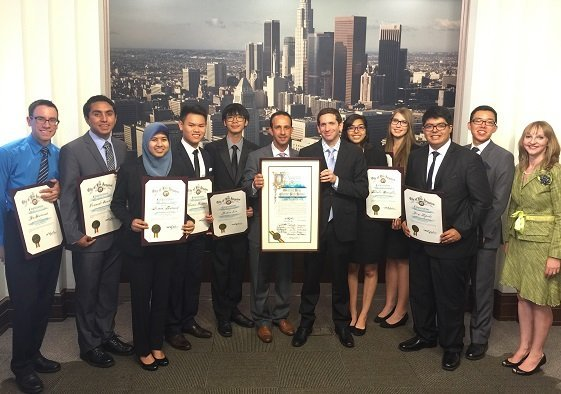 Granada Hills Charter High School Academic Decathlon Team Honored at City Hall