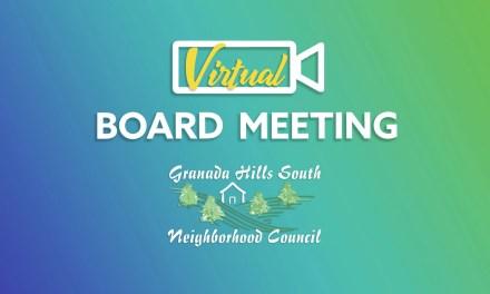 Virtual Board Meeting Thursday, May 7 (via ZOOM)