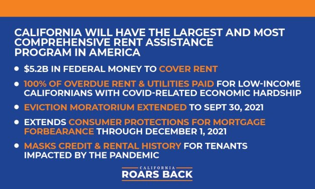 CALIFORNIA EVICTION MORATORIUM EXTENDED AND COVID-19 RENT RELIEF –APPLY NOW!