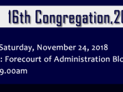MUCG Congregation Ceremony