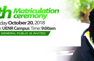 UENR Matriculation Ceremony Date