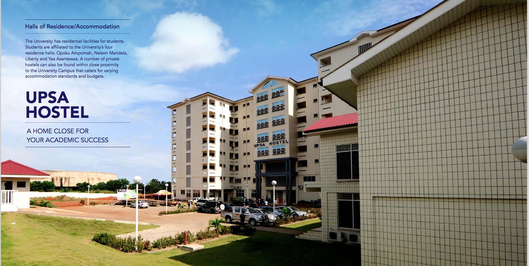 UPSA Hostel Booking Procedures