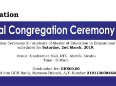 Presbyterian University College Graduation List