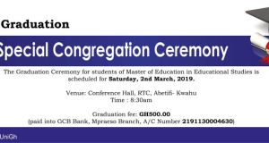 Presbyterian University College Graduation List