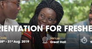 University of Ghana Orientation for Fresh Students