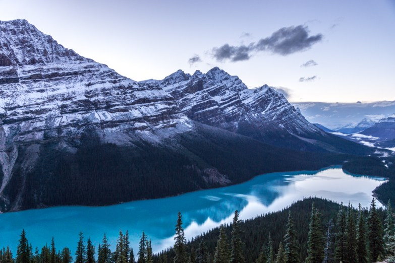 Peyto Lake in the Evening