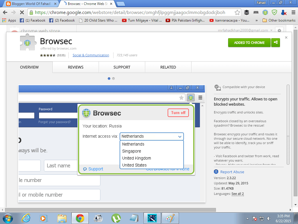 Chrome extensions proxy switcher
