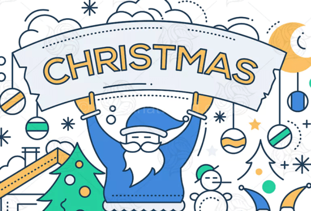 Happy New Year Merry Christmas CardDownload Free