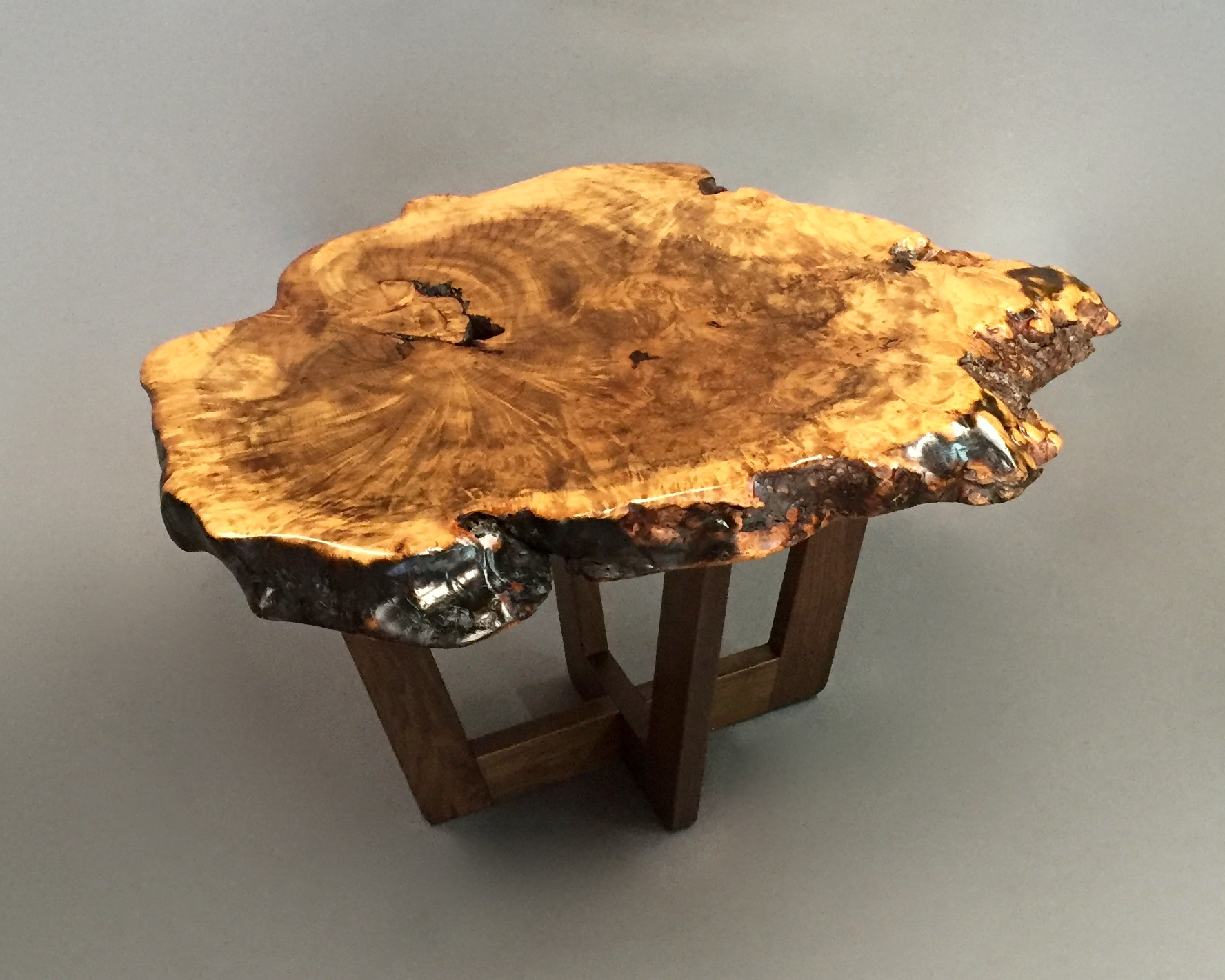 elm slab end table ghw studio