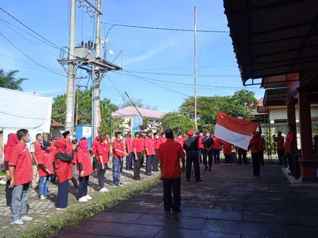Peringati Hari Lahirnya Pancasila, DPC PDI Perjuangan Kota Tebing Tinggi Laksanakan upacara Bendera.
