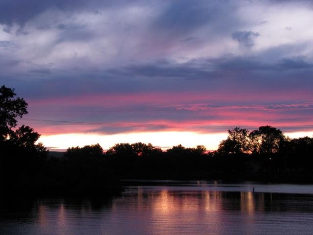 late sunset 12July2009