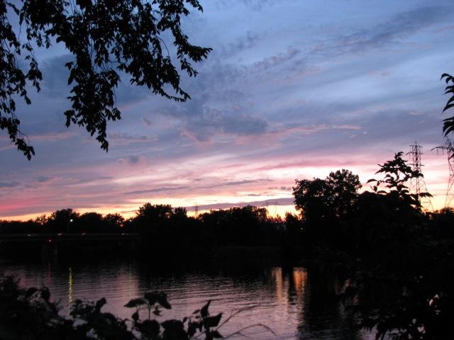 pastel sunset from Washington Ave., Schenectady - 11Aug09