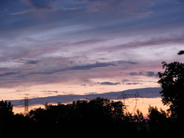 pastel sunset over Scotia, NY, from the Mohawk River - 11Aug09