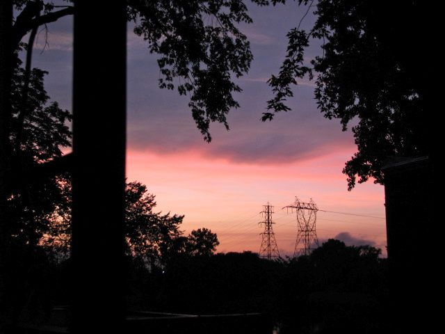 sunset from my porch - 21Aug09