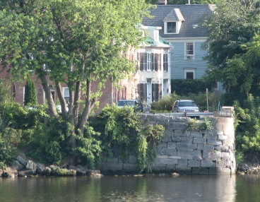former Burr Bridge Abutment - Washington Ave, Stockade, Schenectady NY - 07Sep09
