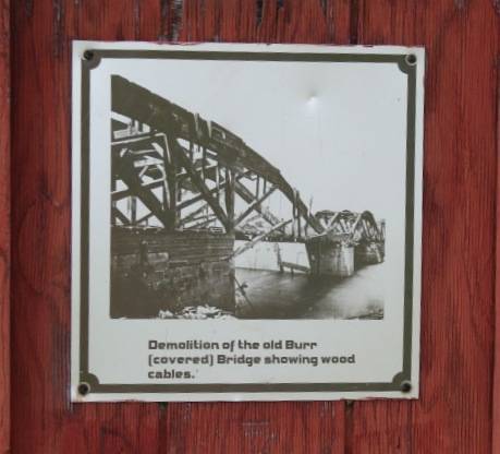 Burr Bridge Demolition - Plaque at Washington Ave. deadend, Scotia